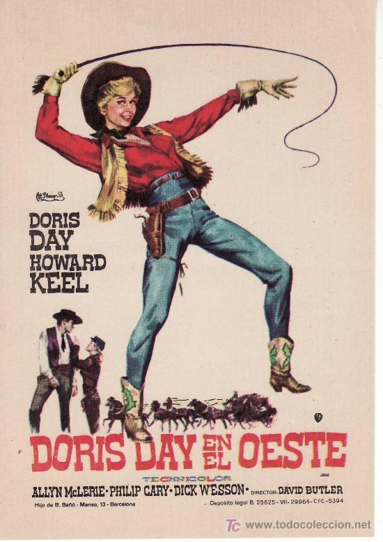 DORIS DAY EN EL OESTE. CINE COLECCION- PROGRAMAS DE MANO Y MAS EN RASTRILLOPORTOBELLO (Cine - Folletos de Mano - Westerns)