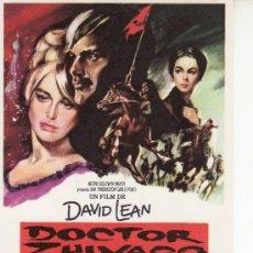 Cine: DOCTOR ZHIVAGO- CINE COLECCION- PROGRAMA DE MANO.AÑO 1966. Lote 131107121