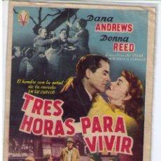 Cine: TRES HORAS PARA VIVIR. SENCILLO DE VICTORY FILMS.. Lote 19191159