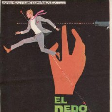Cine: PROGRAMAS DE CINE COLECCIONALOS! EL DEDO DEL DESTINO.. Lote 23714760