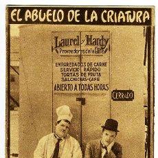 Cine: EL ABUELO DE LA CRIATURA, TARJETA METRO ,CARTULINA , S1484. Lote 20075811