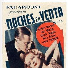 Cine: NOCHES EN VENTA , PARAMOUNT , DOBLE , S1490. Lote 25606664