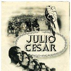 Cine: JULIO CESAR , PROGRAMA GRANDE , DOBLE , S1508. Lote 14659959