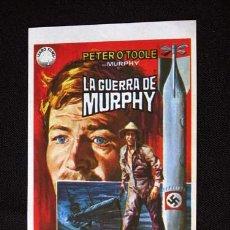 Cine: LA GUERRA DE MURPHY PROGRAMA ORIGINAL SENCILLO IZARO FILMS PETER O'TOOLE. Lote 11651402