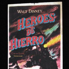 Cine: HEROES DE HIERRO PROGRAMA ORIGINAL SENCILLO FILMAYER WALT DISNEY. Lote 11651596
