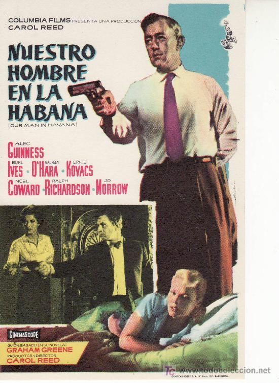 NUESTRO HOMBRE EN LA HABANA- PROGRAMAS Y MAS ARTICULOS DE COLECCION EN RASTRILLOPORTOBELLO (Cine - Folletos de Mano - Suspense)