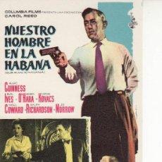 Cine: NUESTRO HOMBRE EN LA HABANA- PROGRAMAS Y MAS ARTICULOS DE COLECCION EN RASTRILLOPORTOBELLO. Lote 131106939