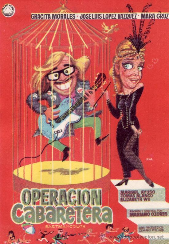 OPERACION CABARETERA. PROGRAMA DE CINE -COLECCIONALOS! (Cine - Folletos de Mano)