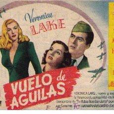 Cine: VUELO DE ÁGUILAS. SENCILLO DE PARAMOUNT. CINE CERVANTES. Lote 11699415