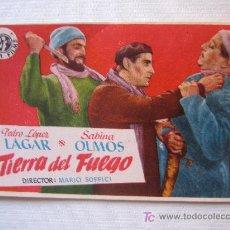 Cine: FOLLETO DE MANO - TIERRA DEL FUEGO - SUEVIA MARIO SOFFICI. Lote 11715030