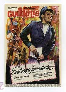 ENTREGA INMEDIATA, POR CANTINFLAS. (Cine - Folletos de Mano - Comedia)