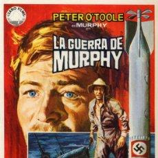 Cine: LA GUERRA DE MURPHY 1971 (FOLLETO DE MANO ORIGINAL) PETER O'TOOLE. Lote 11781582