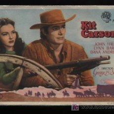 Cine: KIT CARSON. SENCILLO DE FLORALVA.. Lote 11803986