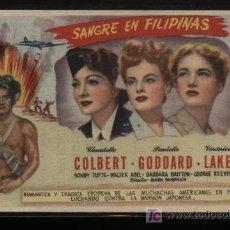 Cine: SANGRE EN FILIPINAS. SENCILLO DE MERCURIO FILMS. CINEMA GOYA.. Lote 11815767