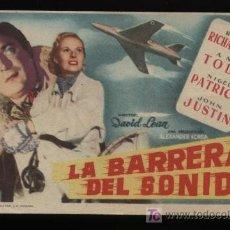 Cine: LA BARRERA DEL SONIDO. SENCILLO DE MERCURIO.. Lote 11815952