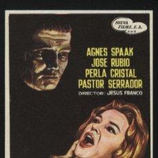 Cine: P-2346- EL SECRETO DEL DR. ORLOFF (HUGO BLANCO - AGNÈS SPAAK - PERLA CRISTAL). Lote 222689938