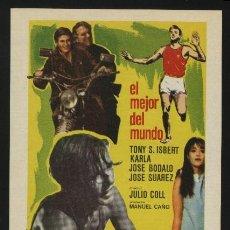 Cine: P-0139- EL MEJOR DEL MUNDO (TONY S. ISBERT - NORA LARRAGA - JOSÉ BÓDALO). Lote 204682672