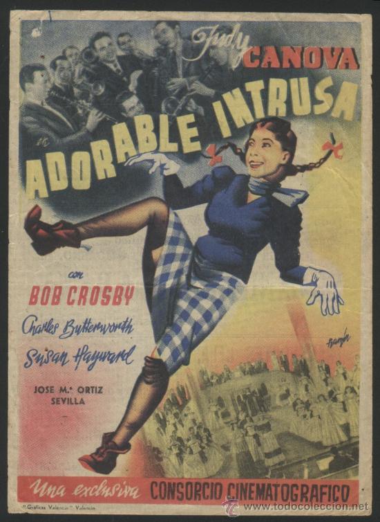 P-5251- ADORABLE INTRUSA (J. M. ORTIZ) (CINE CHAMORRO) (Judy Canova - Bob Crosby), usado segunda mano