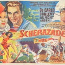 Flyers Publicitaires de films Anciens: SCHERAZADE. Lote 12074304