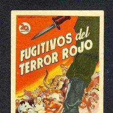 Cine: FUGITIVOS DEL TERROR ROJO (SOLIGO). Lote 12079136