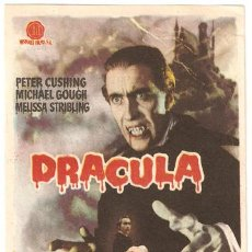 Cine: DRACULA PROGRAMA SENCILLO HISPAMEX PETER CUSHING CHRISTOPHER LEE HAMMER. Lote 12092078