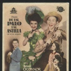 Cine: P-3746- DE TAL PALO TAL ASTILLA (CHIP OFF THE OLD BLOCK) DONALD O'CONNOR - PEGGY RYAN. Lote 20007763