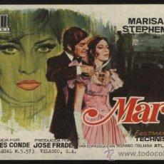 Cine: P-0016- MARTA (DOPO DI CHE, UCCIDE IL MASCHIO E LO DIVORA) MARISA MELL - STEPHEN BOYD. Lote 262019955