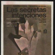 Cine: P-0033- LAS SECRETAS INTENCIONES (JEAN-LOUIS TRINTIGNANT - HAYDÉE POLITOFF - VALERIANO ANDRÉS). Lote 109864828