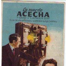 Cine: LA MUERTE ACECHA. SENCILLO DE CHAMARTÍN. CINEMA ESPAÑA. TORREVIEJA. Lote 12411396