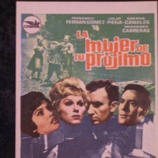 Cine: LA MUJER DE TU PROJIMO ( FERNANDO FERNAN GOMEZ / SUSANA CANALES). Lote 12485149