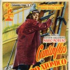 Cine: EL BOMBERO ATOMICO 1950 (FOLLETO DE MANO ORIGINAL) MARIO MORENO CANTINFLAS. Lote 12492711