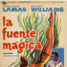 Cine: LA FUENTE MAGICA 1962 (FOLLETO DE MANO ORIGINAL) ESTHER WILLIAMS - FERNANDO LAMAS. Lote 53081132