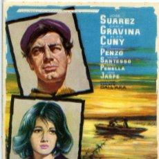 Cine: SCANO BOA 1961 (FOLLETO DE MANO ORIGINAL SIN PUBLICIDAD) JOSE SUAREZ - CARLA GRAVINA. Lote 63137218