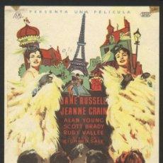 Cine: P-8637- LOS CABALLEROS SE CASAN CON LAS MORENAS (GENTLEMEN MARRY BRUNETTES) JANE RUSSELL. Lote 20812470