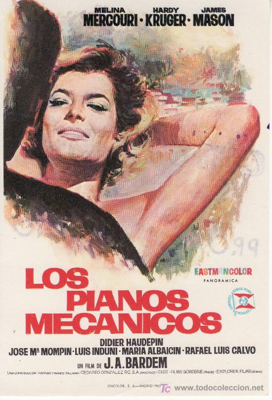 LOS PIANOS MECANICOS- PROGRAMAS DE CINE Y OTROS-COLECCIONISMO EN GENERAL-RASTRILLOPORTOBELLO (Cine - Folletos de Mano)