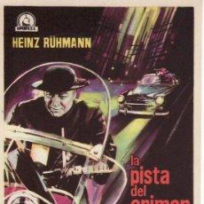 Cine: LA PISTA DEL CRIMEN- PROGRAMAS DE CINE Y OTROS-COLECCIONISMO EN GENERAL-RASTRILLOPORTOBELLO. Lote 37311209
