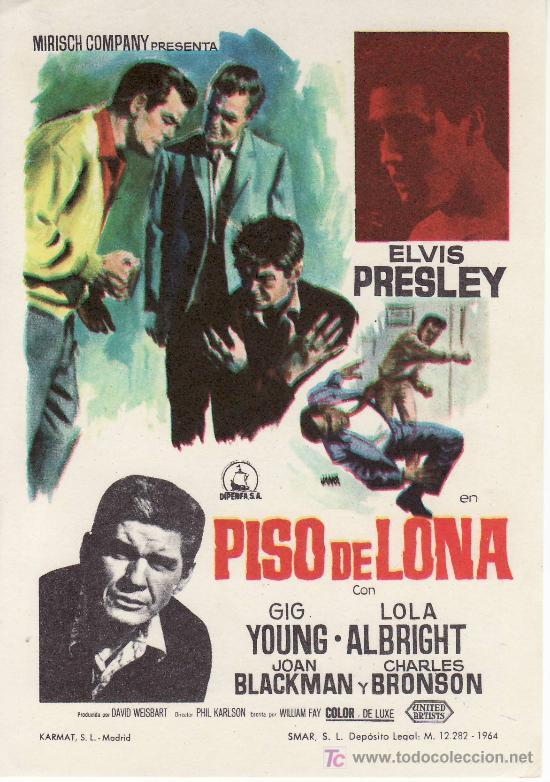 ELVIS PRESLEY-PISO DE LONA- PROGRAMAS DE CINE Y OTROS-COLECCIONISMO EN GENERAL-RASTRILLOPORTOBELLO (Cine - Folletos de Mano)