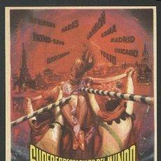 Flyers Publicitaires de films Anciens: P-2197- SUPERESPECTACULOS DEL MUNDO. Lote 156607353