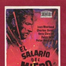 Cine: PROGRAMA CINE SIN PROPAGANDA - EL SALARIO DEL MIEDO - MERCURIO FILMS. Lote 254471825