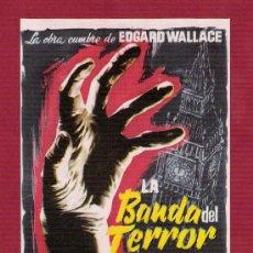 Cine: PROGRAMA SENCILLO CINE - LA BANDA DEL TERROR. Lote 12597185