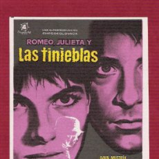 Cine: PROGRAMA SENCILLO CINE - ROMEO, JULIETA Y LAS TINIEBLAS - DIRECTOR: JIRI WEISS - DISCENTRO. Lote 12597733