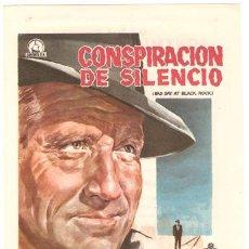 Cine: CONSPIRACION DE SILENCIO PROGRAMA SENCILLO DIPENFA SPENCER TRACY ROBERT RYAN ERNEST BORGNINE MARVIN. Lote 12603394