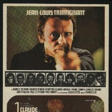 Cine: P-0104- EL CANALLA (LE VOYOU) (JEAN-LOUIS TRINTIGNANT - CHRISTINE LELOUCH - CHARLES GÉRARD). Lote 109869592