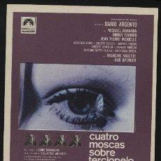 Cine: P-0704- CUATRO MOSCAS SOBRE TERCIOPELO GRIS (MICHAEL BRANDON - MIMSY FARMER - JEAN-PIERRE MARIELLE). Lote 222595757