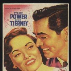 Cine: P-4369- ESE IMPULSO MARAVILLOSO (SOLIGÓ) (TYRONE POWER - GENE TIERNEY - REGINALD GARDINER). Lote 20937986
