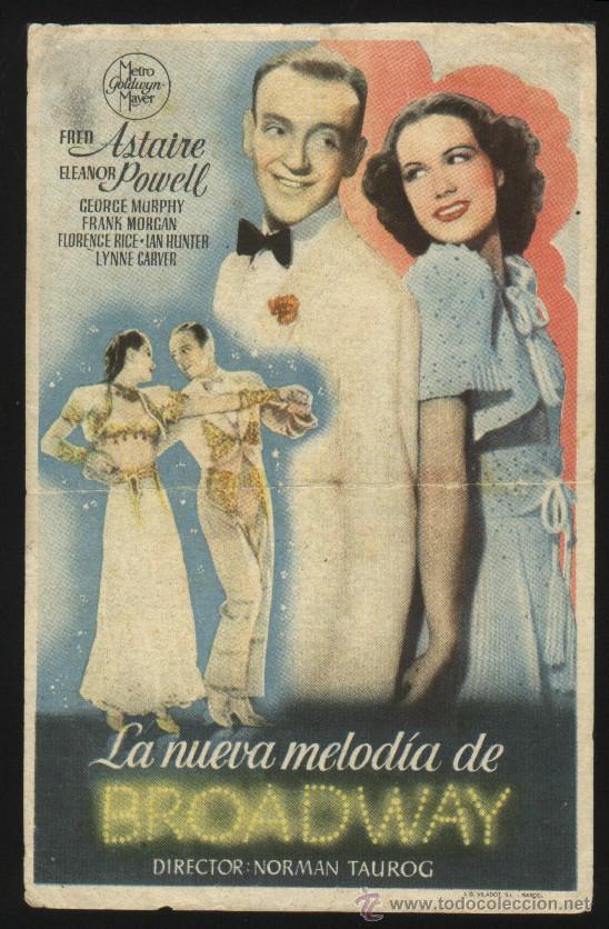 P-3983- LA NUEVA MELODIA DE BROADWAY (BROADWAY MELODY OF 1940) (CINE AVENIDA - SORIA) FRED ASTAIRE (Cine - Folletos de Mano - Musicales)