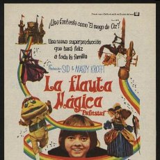 Cine: P-0264- LA FLAUTA MAGICA (PUFNSTUF) JACK WILD - BILLIE HAYES - MARTHA RAYE - BILLY BARTY. Lote 223367342