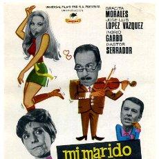 Flyers Publicitaires de films Anciens: MI MARIDO Y SUS COMPLEJOS , SENCILLO , PMD 427. Lote 26172493