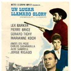 Cine: UN LUGAR LLAMADO GLORY , SENCILLO , PMD 436. Lote 294167558