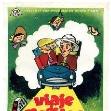 Flyers Publicitaires de films Anciens: VIAJE DE NOVIOS , SENCILLO , PMD 456. Lote 12678232